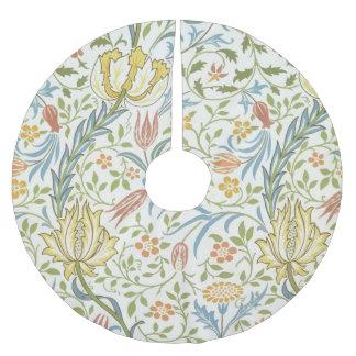 William Morris Flora Vintage Floral Art Nouveau Brushed Polyester Tree Skirt