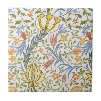 William Morris Flora Vintage Floral Art Nouveau Tile