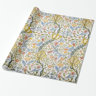 William Morris Flora Vintage Floral Art Nouveau Wrapping Paper