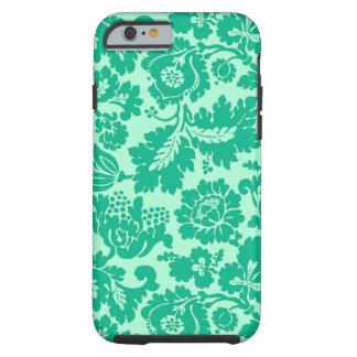 William Morris Floral Damask, Turquoise and Aqua Tough iPhone 6 Case