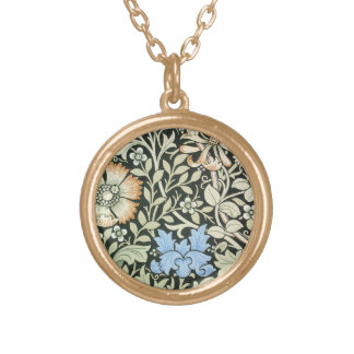William Morris floral design Gold Plated Necklace