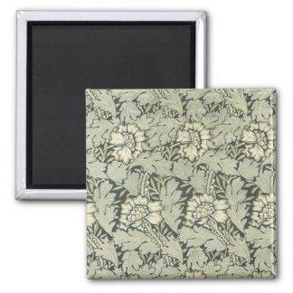 William Morris Floral Fabric Design Cards Square Magnet