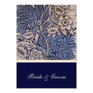 William Morris Floral Pattern Wedding Invitation