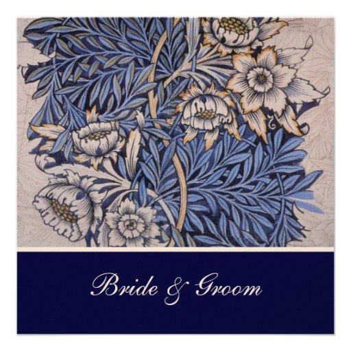 William Morris Floral Pattern Wedding Invitations