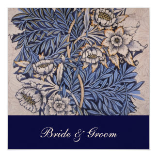 William Morris Floral Pattern Wedding Invitations