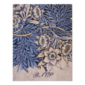William Morris Floral Pattern Wedding Reply Cards 11 Cm X 14 Cm Invitation Card