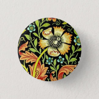 William Morris Flowers 3 Cm Round Badge