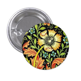 William Morris Flowers Buttons