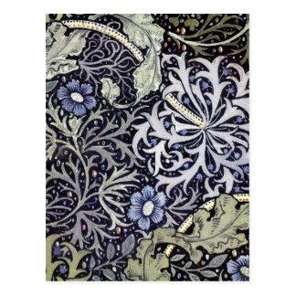 William Morris Flowers Postcard