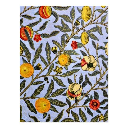 William Morris - Fruit Postcard