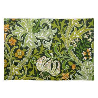 William Morris Garden Lilies Fine Floral Wallpaper Placemat