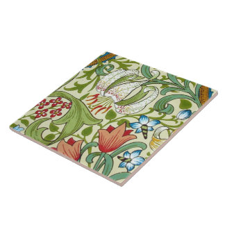 William Morris Garden Lily Wallpaper Large Square Tile