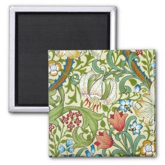 William Morris Garden Lily Wallpaper Magnet