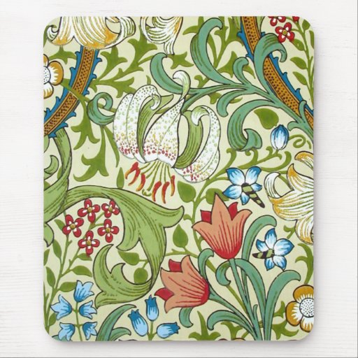 William Morris Garden Lily Wallpaper Mousepad