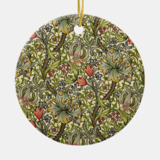 William Morris Golden Lily Christmas Ornament
