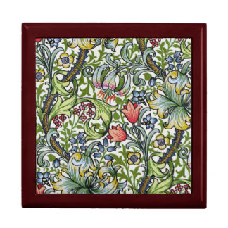 William Morris Golden Lily Floral Chintz Pattern Large Square Gift Box