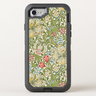 William Morris Golden Lily Floral OtterBox Defender iPhone 8/7 Case