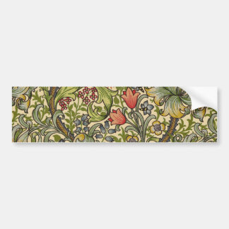 William Morris Golden Lily Pattern Bumper Sticker