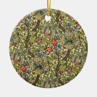 William Morris Golden Lily Round Ceramic Decoration