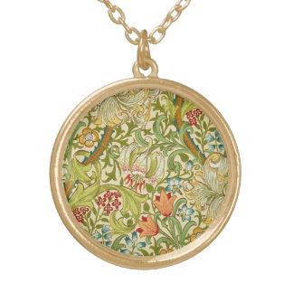 William Morris Golden Lily Vintage Pre-Raphaelite Gold Plated Necklace
