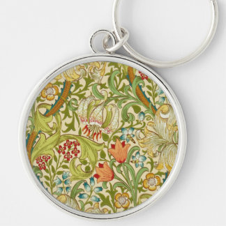 William Morris Golden Lily Vintage Pre-Raphaelite Key Ring