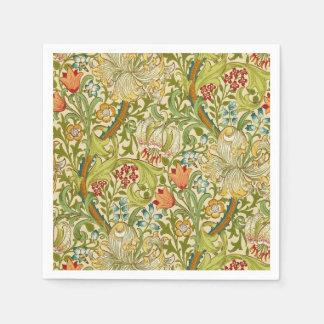 William Morris Golden Lily Vintage Pre-Raphaelite Paper Napkin
