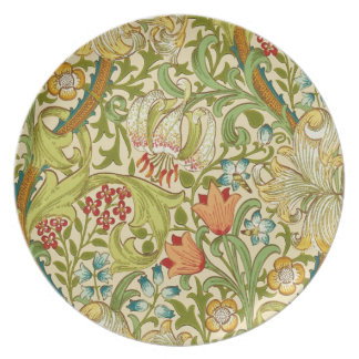 William Morris Golden Lily Vintage Pre-Raphaelite Plate