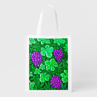 William Morris Grapevine, Purple and Green Reusable Grocery Bag