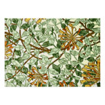 William Morris - Honeysuckle in Green and Gold Poster