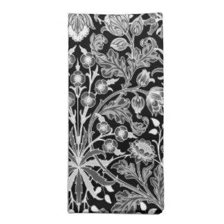 William Morris Hyacinth Print, Black and White Napkin