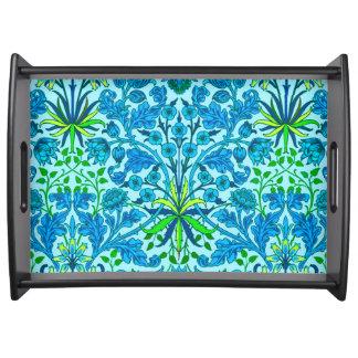 William Morris Hyacinth Print, Cerulean Blue Serving Tray