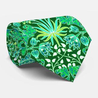 William Morris Hyacinth Print, Emerald Green Tie