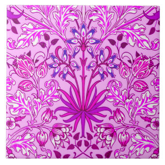 William Morris Hyacinth Print, Lavender and Violet Tile