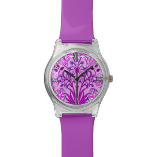 William Morris Hyacinth Print, Lavender and Violet Watch