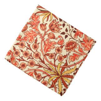 William Morris Hyacinth Print, Orange and Rust Bandanas