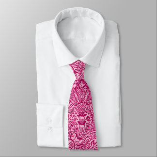 William Morris Indian, Deep Fuchsia Pink Tie