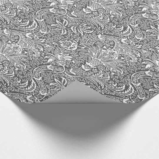 William Morris Indian, Graphite Grey and White Wrapping