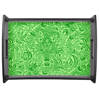 William Morris Indian, Lime and Kiwi Green Serving Tray