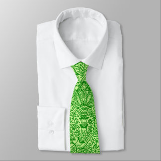 William Morris Indian, Lime and Kiwi Green Tie