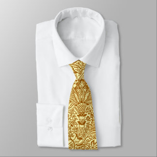 William Morris Indian, Mustard Yellow and Gold Tie