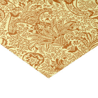 William Morris Indian, Mustard Yellow and Gold Tissue Paper