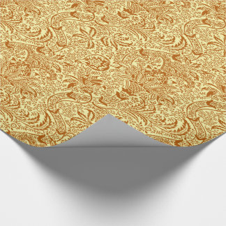 William Morris Indian, Mustard Yellow and Gold Wrapping Paper