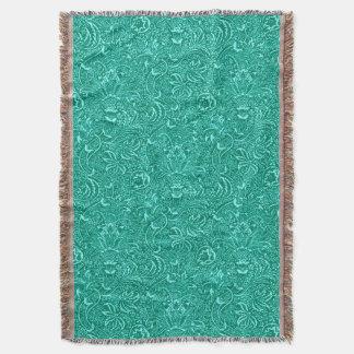 William Morris Indian, Turquoise and Light Aqua