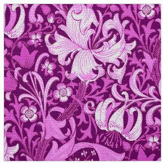 William Morris Iris and Lily, Amethyst Purple Fabric