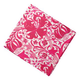 William Morris Iris and Lily, Fuchsia Pink Bandanna