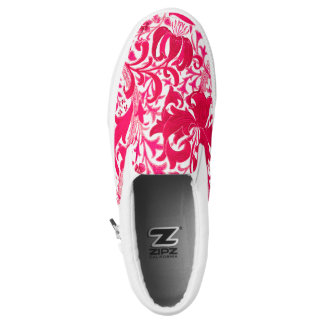 William Morris Iris and Lily, Fuchsia Pink Slip-On Shoes