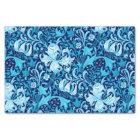 William Morris Iris and Lily, Indigo Blue Tissue Paper