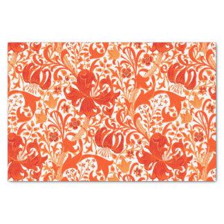 William Morris Iris and Lily, Mandarin Orange Tissue Paper