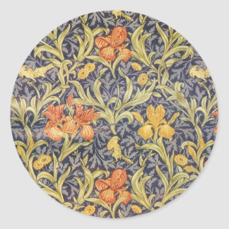 William Morris Iris Classic Round Sticker