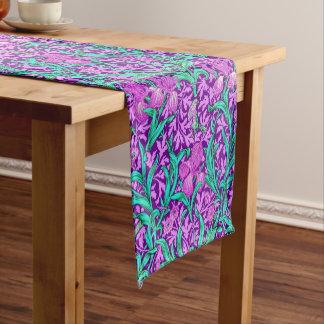 William Morris Iris Pattern, Amethyst Purple Short Table Runner